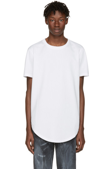 Pyer Moss - White Mesh Ryan T-Shirt