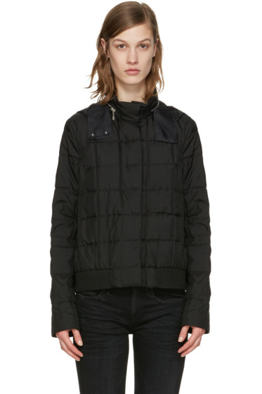 Moncler Gamme Rouge - Black Down Quilted Duchess Jacket