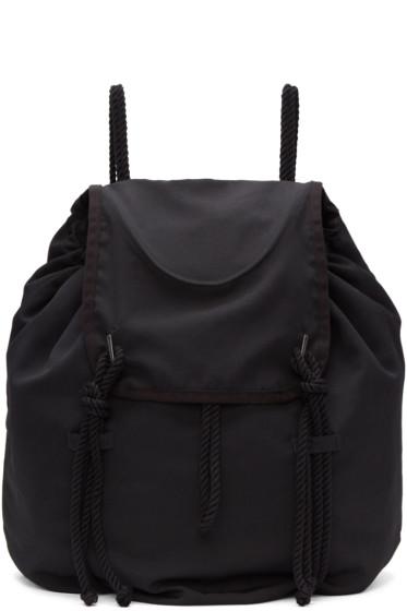 Yohji Yamamoto - Black Drawstring Backpack