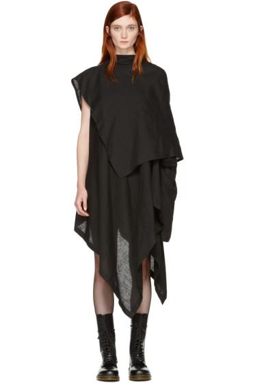Yohji Yamamoto - Black Drape Dress