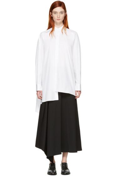 Yohji Yamamoto - White Asymmetric Shirt