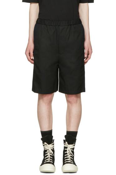 Lad Musician - Black Gabardine Shorts