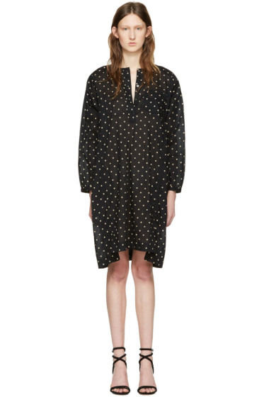 Isabel Marant Etoile - Black Polka Dot Makya Dress