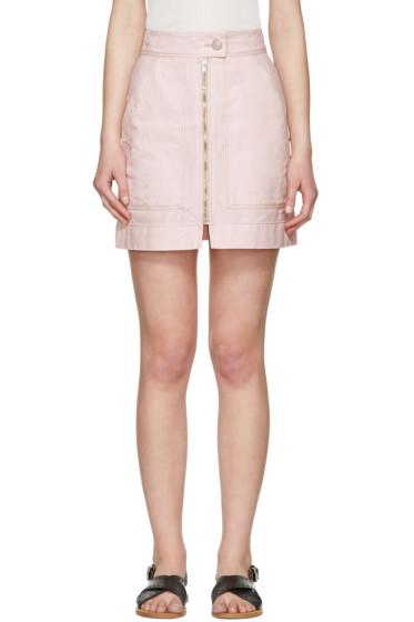 Isabel Marant - Pink Workwear Denim Demie Miniskirt