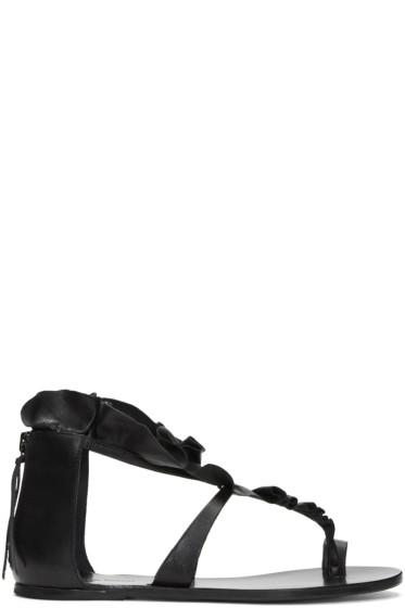Isabel Marant - Black Audry Ruffle Sandals