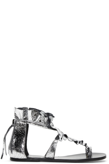 Isabel Marant - Silver Audry Ruffle Sandals