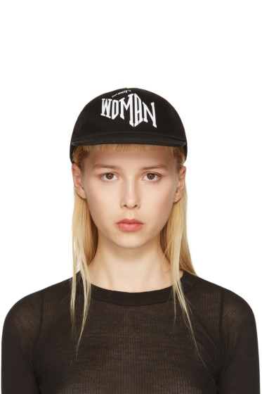 Off-White - Black Typography Cap