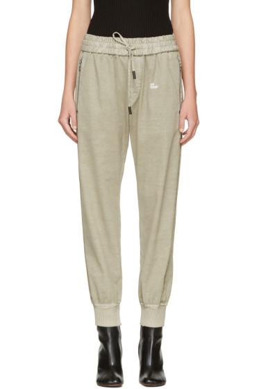 Off-White - Beige Slim Track Pants