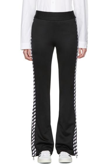 Off-White - Black Diagonal Side Track Pants