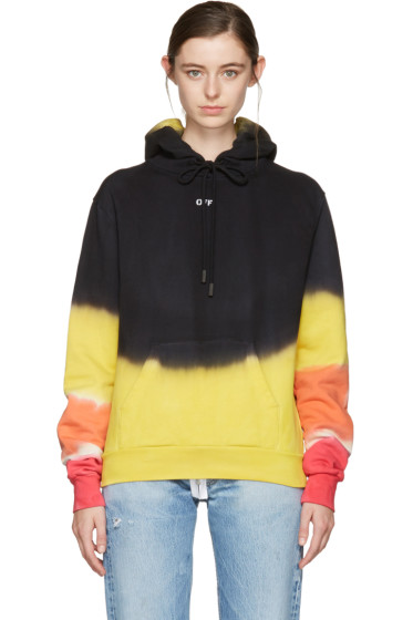 Off-White - Multicolor Tie-Dye Pleat Hoodie