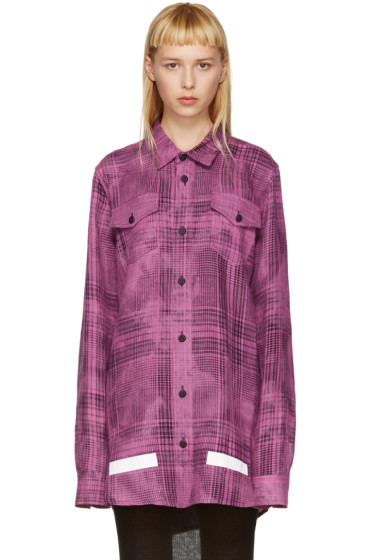 Off-White - Pink Linen Check Shirt