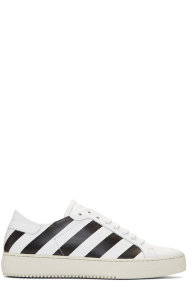 Off-White - White Classic Diagonal Sneakers