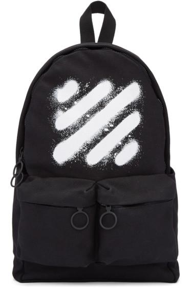 Off-White - Black Diagonal Spray Backpack