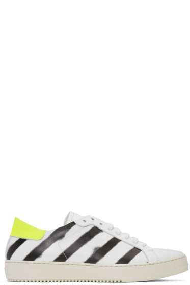 Off-White - White Spray Diagonal Sneakers
