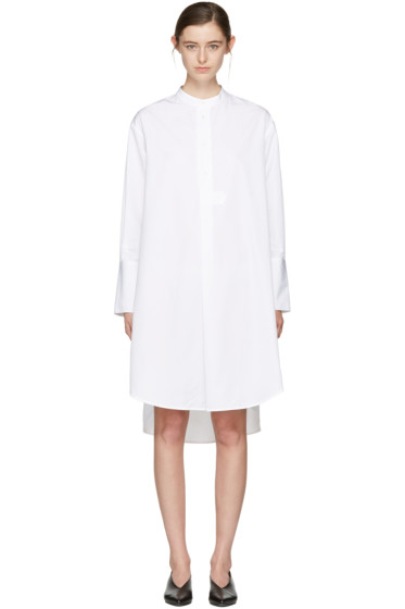 Studio Nicholson - White Vico Oversized Shirt Dress