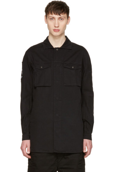 11 by Boris Bidjan Saberi - Black Cross Logo Shirt