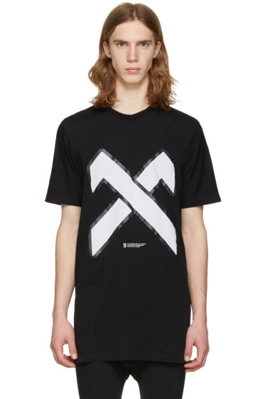 11 by Boris Bidjan Saberi - Black Cross Logo T-Shirt