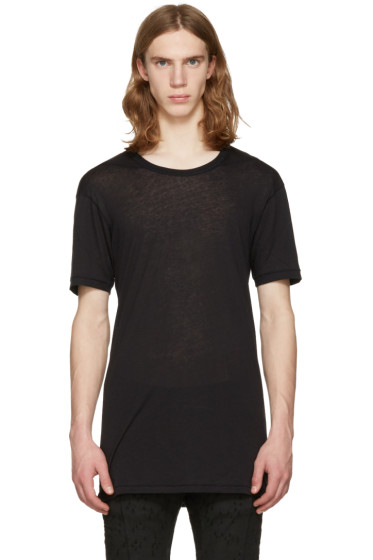 11 by Boris Bidjan Saberi - Black Regular Fit T-Shirt