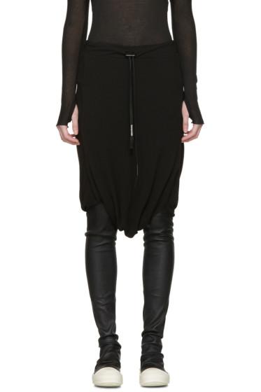Boris Bidjan Saberi - Black Drawstring Skirt
