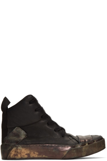 Boris Bidjan Saberi - Black Bamba 1 High-Top Sneakers