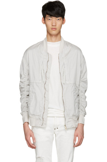 Diet Butcher Slim Skin - White Garment-Dyed Fight Jacket