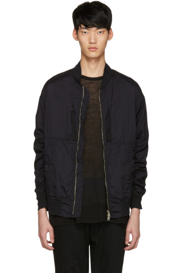 Diet Butcher Slim Skin - Black Garment-Dyed Flight Jacket