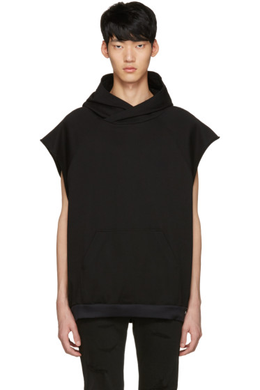Diet Butcher Slim Skin - Black Oversized Sleeveless Hoodie