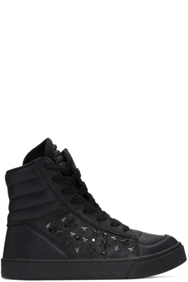 Diet Butcher Slim Skin - Black Tilt Star Twisted High-Top Sneakers