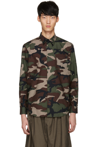 Johnlawrencesullivan - Khaki Camo Shirt