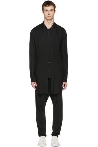 Nude:mm - ブラック ロング シャツ ジャケット