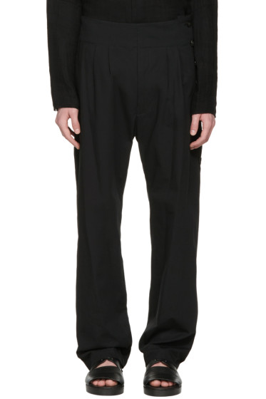 Nude:mm - Black Side Button Trousers