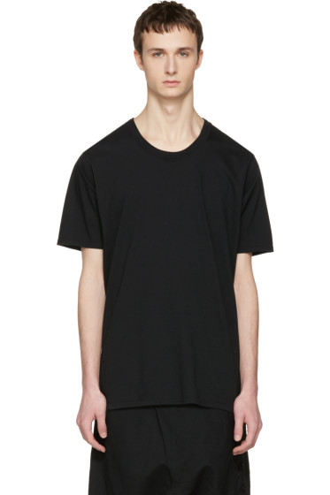 Nude:mm - ブラック コットン T シャツ