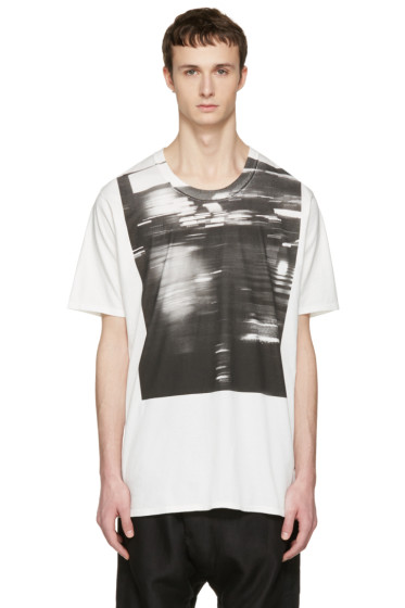 Nude:mm - Off-White Printed T-Shirt