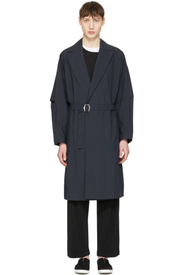 Undecorated Man - Navy Detective Trench Coat