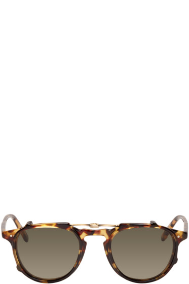 Garrett Leight - Tortoiseshell Hampton Clip-On Sunglasses