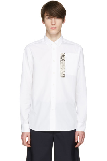 OAMC - White Snake Patch Shirt