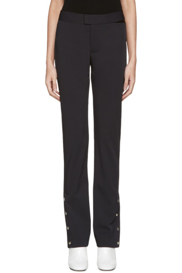 Nomia - Navy Snap Hem Trousers