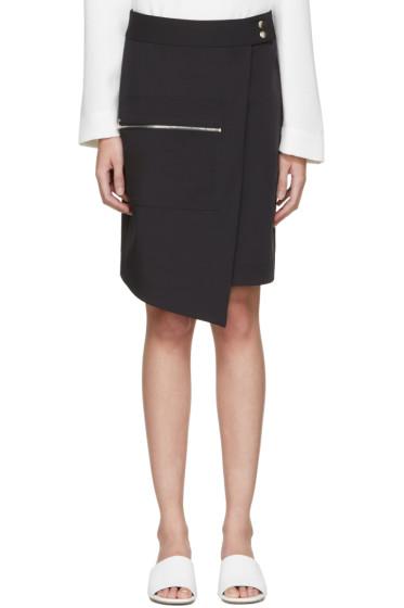 Nomia - Navy Zip Wrap Skirt