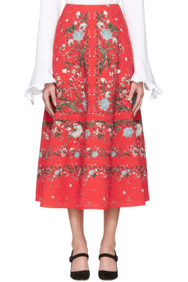 Erdem - Red Tiana Convertine Skirt