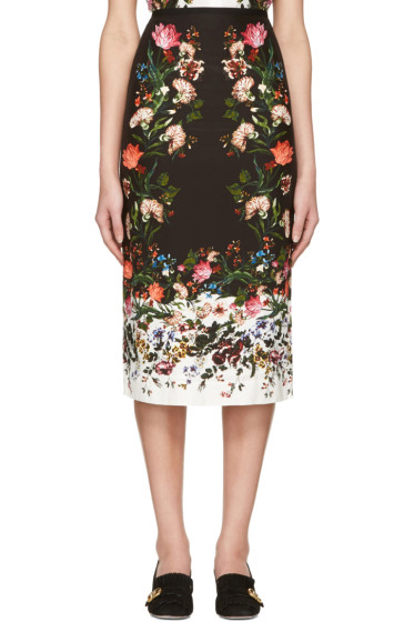 Erdem - Black Maria Convertine Rose Skirt