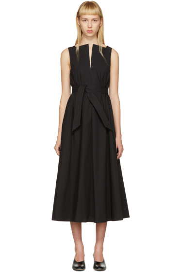 Lemaire - Black Flared Dress