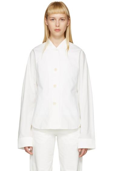 Lemaire - White Kimono Sleeve Shirt