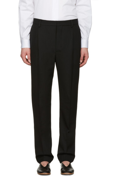 Lemaire - Black Pleated Trousers