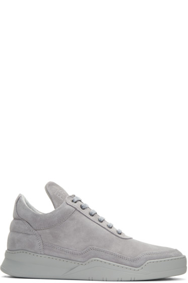 Filling Pieces - Grey Ghost Tone Sneakers