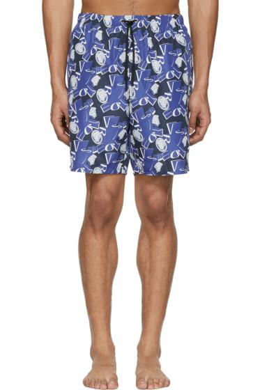 Versace Underwear - Blue Medusa Swim Shorts