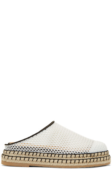 Flamingos - White Mesh Gumbo Slip-On Espadrilles