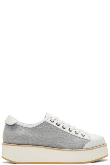 Flamingos - Grey Jersey Tatum Sneakers