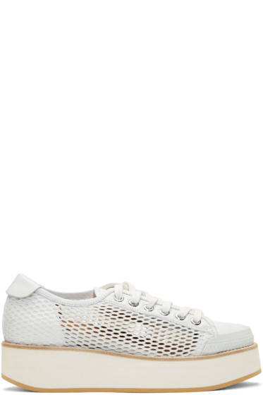 Flamingos - White Mesh Tatum Sneakers