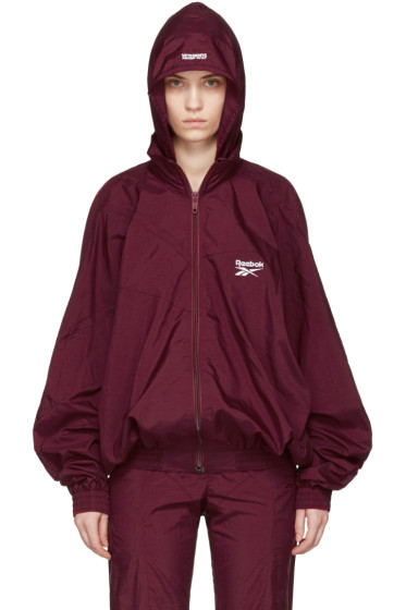 Vetements - Burgundy Reebok Edition Classic Track Jacket