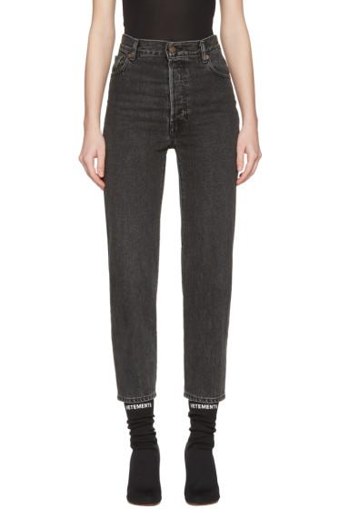 Vetements - Black Levi's Edition Classic High Waist Jeans